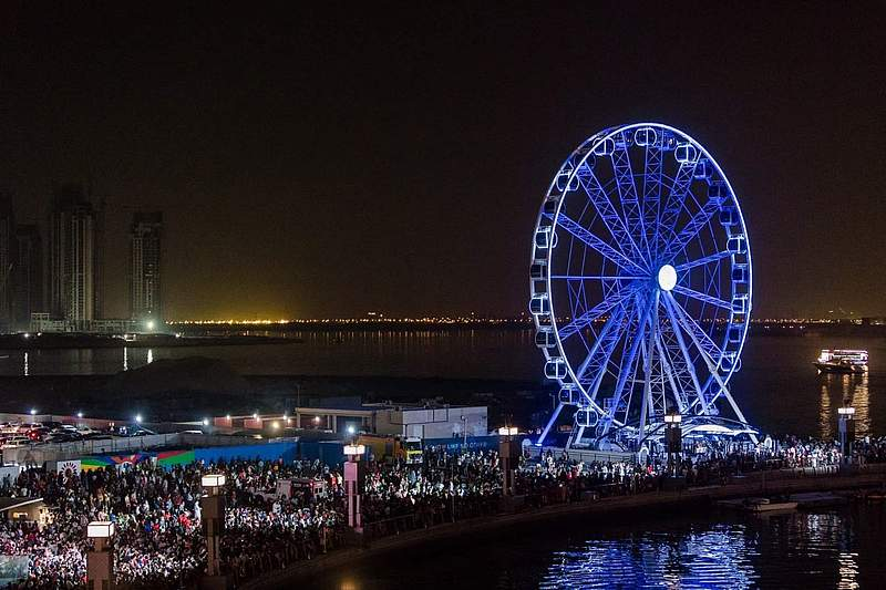Dubai festival city wheel