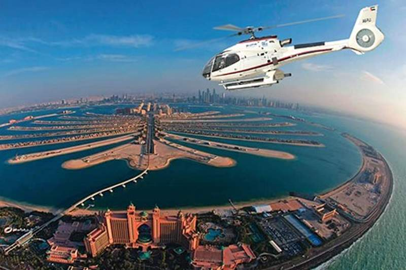 helicopter tour over dubai
