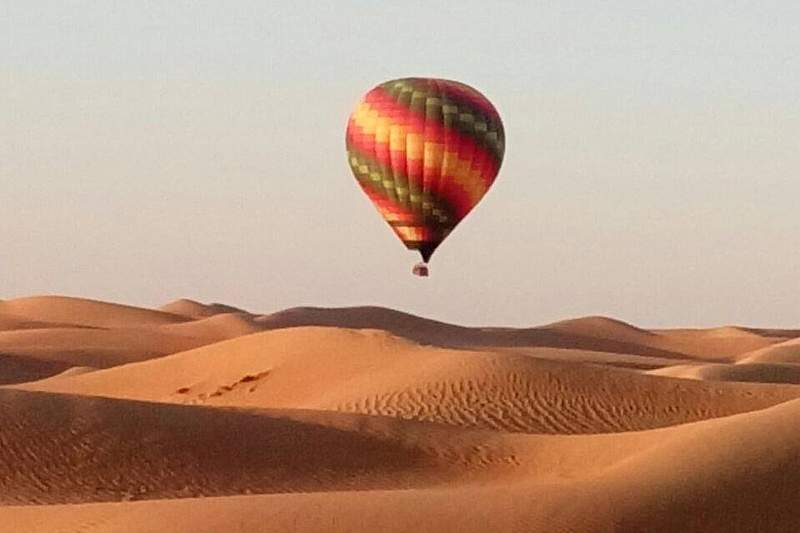 balloon flight dubai