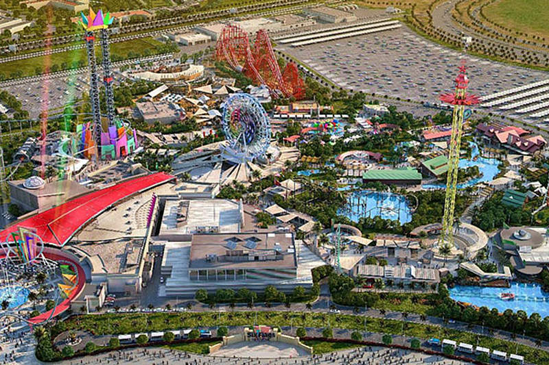 Six flags Dubai theme park